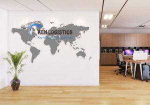 dự án thiết kế văn phòng ken logistics