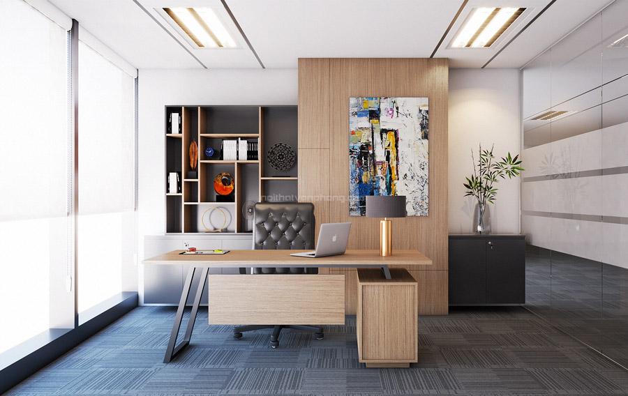 Thiết kế phòng giám đốc đẹp với ánh sáng tự nhiên